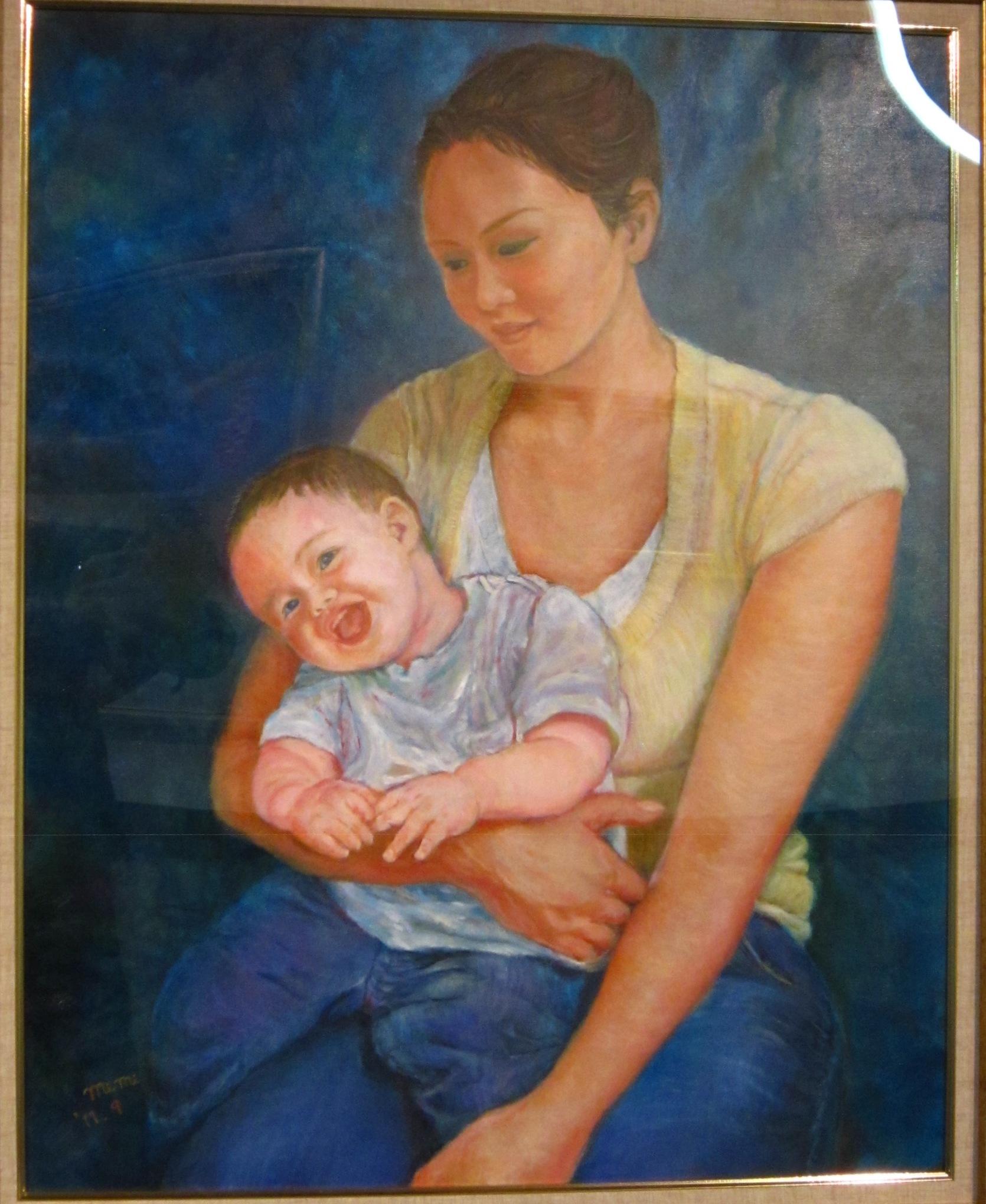 浜崎清美 「母と子」